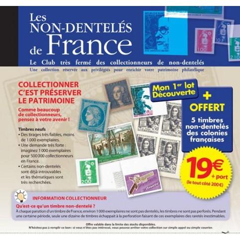 La collection des Timbres NON-DENTELES de France