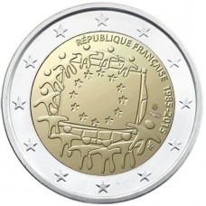 France 2015 2 Euro Commemorative 30 Ans Du Drapeau Europeen