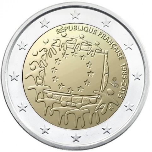 France 2015 - 2 euro commémorative 30 ans du drapeau européen