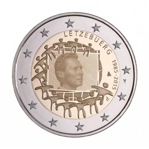 luxembourg 2015 - 2 euro commémorative 30 ans du drapeau européen