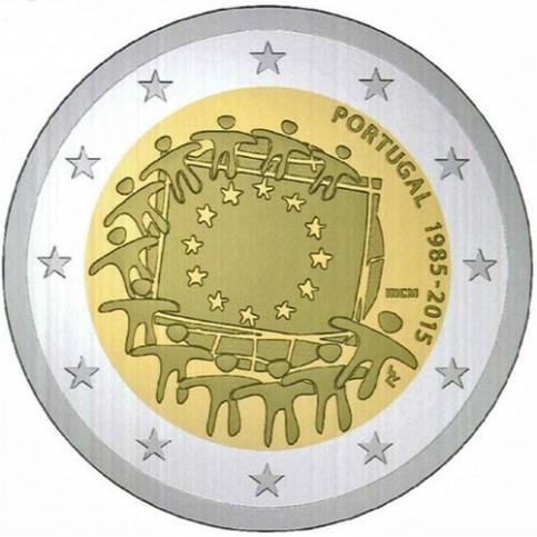Portugal 2015 - 2 euro commémorative 30 ans du drapeau européen