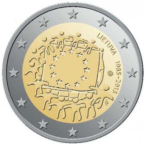 Lituanie 2015 - 2 euro commémorative 30 ans du drapeau européen