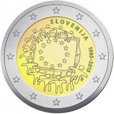 Slovénie 2015 - 2 euro commémorative 30 ans du drapeau européen