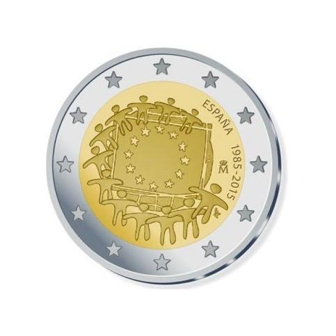 Espagne 2015 - 2 euro commémorative 30 ans du drapeau européen
