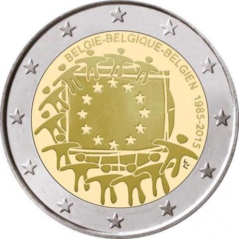 Belgique 2015 - 2 euro commémorative 30 ans du drapeau européen