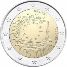 Malte 2015 - 2 euro commémorative 30 ans du drapeau européen