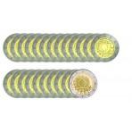 série complète 23 pièces - 2 euro commémoratives 30 ans du drapeau