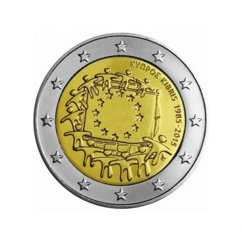 chypre 2015 - 2 euro commémorative 30 ans du drapeau européen