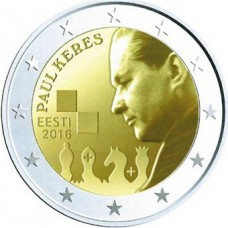 Estonie 2016 - 2 euro commémorative Paul KERES