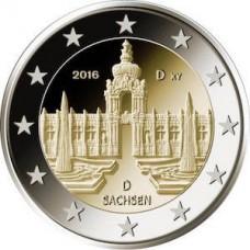 Allemagne 2016 - 2 euro commémorative Palais de Zwinger