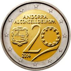 Andorre 2014 - 2 euro commémorative