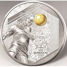 Euro 2016 - 10 euro Argent BE Tête