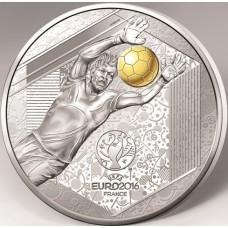 Euro 2016 - 10 euro Argent BE Gardien