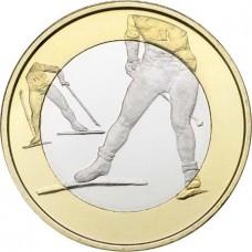 """Finlande 2016 - 5 euro """"ski de fond"""""""