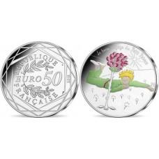 Le PETIT PRINCE - 50 EURO COULEUR, la rose