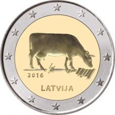 Lettonie 2016 - 2 euro commémorative industrie laitière