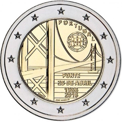Portugal 2016 - 2 euro commémorative Pont