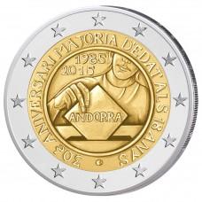 Andorre 2015 - 2 euro commémorative majorité