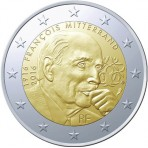 France 2016 - 2 euro commémorative Francois Mitterrand
