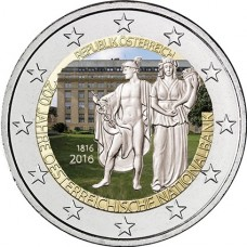 Autriche 2016 - 2 euro commémorative banque nationale couleur