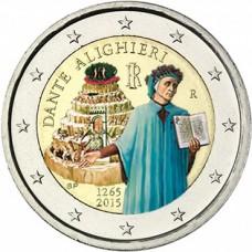 Italie 2015 - 2 euro commémorative DANTE couleur