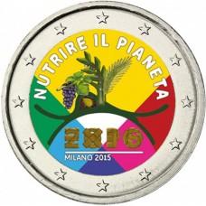 Italie 2015 - 2 euro commémorative Exposition de Milan en couleur