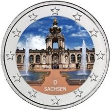 Allemagne 2016 - 2 euro commémorative Palais de Zwinger en couleur