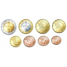 CHYPRE - SERIE COMPLETE DE 1 CENTIME A 2 EUROS