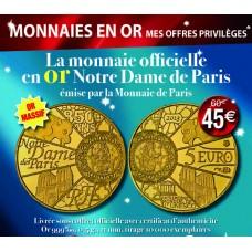 5 euro Or Notre dame de Paris