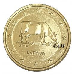 Lettonie 2016 - 2 euro commémorative dorée à l'or fin 24 carats  Industrie laitière
