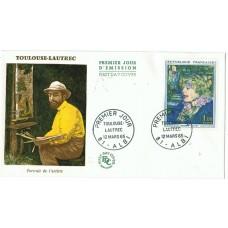 Enveloppe 1er jour - Toulouse Lautrec 12 mars 1965