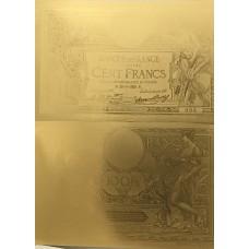Reproduction 100 Francs Luc Olivier Merson Caissier Principal sans L.O.M.