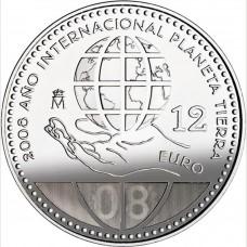 Espagne 2008 - 12 euro planète en argent