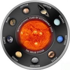 Monnaie officielle Système solaire argent massif