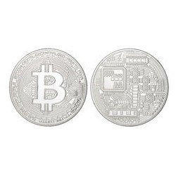BITCOIN collector couleur argent