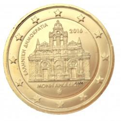 Grèce 2016 - 2 euro Monastère dorée or fin 24 carats