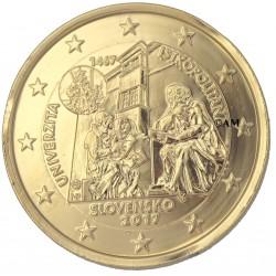 slovaquie 2017 - 2 euro commémorative Université dorée or fin 24 carats