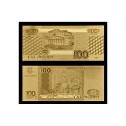 Reproduction billet Russie 100 roubles - Doré or fin 24 carats