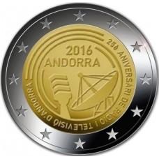 Andorre 2016 - 2 euro commémorative TV & radio