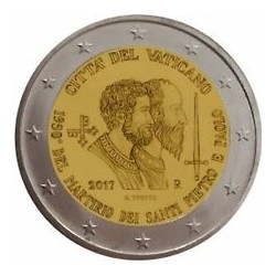 Vatican 2017 - 2 euro commémorative martyre de Saint-Pierre et de Saint Paul