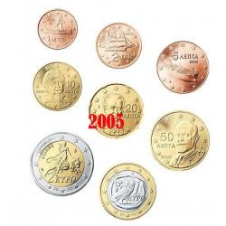 Grèce 2005 : Série complète euro neuve