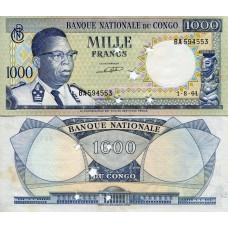 Billet du Congo de 1 000 Francs