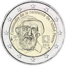 France 2012 - 2 euro commémorative Abbé Pierre