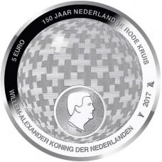 Pays-Bas 2017 - Coincard 5 euro 'Croix Rouge '