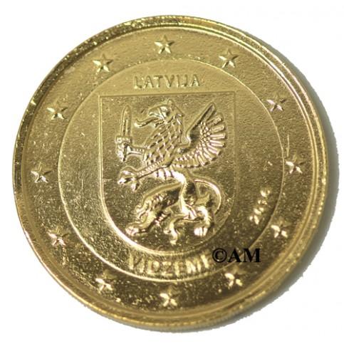 lettonie 2016 -  2 euro commémorative dorée à l'or fin 24 carats  Blason
