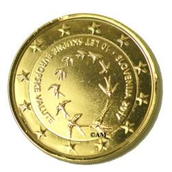 Slovénie 2017 - 2 euro commémorative dorée à l'or fin 24 carats