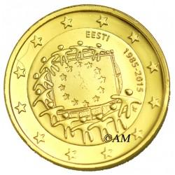 Estonie 2015 - 2 euro commémorative 30 ans dorée à l'or fin 24 carats