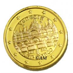 Italie 2017 - 2 euro commémorative Venise dorée à l'or fin 24 carats