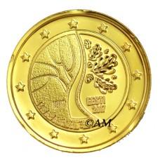 Estonie 2017 - 2 euro commémorative Indépendance dorée à l'or fin 24 carats