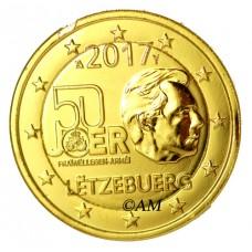 Luxembourg 2017 - 2 euro commémorative volontariat dorée à l'or fin 24 carats